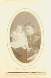 Fanny Threlfall with infant, London