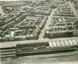 Aerial View: Railway Station & Queens Terrace, Fleetwood ~ 1965
