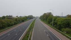 An empty M6 - Sean Tither aged 51 of Coppull