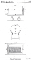 Diagram of Joseph Gornall's Patent Cheese Maker
