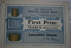 Preston Cheese Show 1932