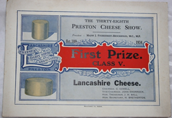 Preston Cheese Show 1934